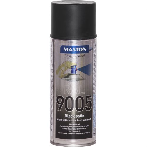 MASTON RAL 9005 BLACK SATIN 400ml SPRAY