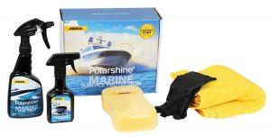 Polarshine Marine Puhdistus ja Kesto Vahaus Pintakäsittely setti