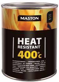 Maston Kuumakestomaali 400°C Musta 0,25 L