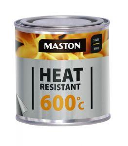 Maston Kuumakestomaali 600°C Hopea 0,25 L