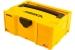 MIRKA tyhjä salkku 400x300x158mm keltainen + Deros sisäosa