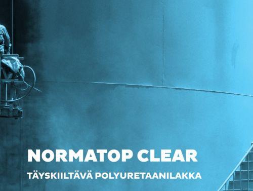 Normatop Clear Täyskiiltävä Teollisuuskirkaslakka 9 L sarja